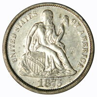 1875 SEATED DIME   EXTRA FINE   PRICED RIGHT