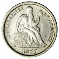 1877-CC SEATED DIME   EXTRA FINE   PRICED RIGHT