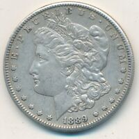 1889-S MORGAN SILVER DOLLAR-SEMI KEY DATE-LIGHT CIRCULATION-SHIPS FREE INV:4