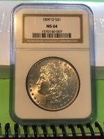 MORGAN DOLLAR 1899O NGC MINT STATE 64 MINT UNCIRCULATED GRADED
