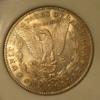 1878 S MORGAN SILVER DOLLAR - BU, FROSTY LUSTER, GOLD TONING BOTH SIDES 3604