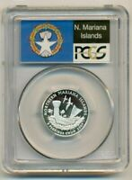 PCGS 2009 S SILVER N. MARIANA ISLANDS QUARTER PR70 DCAM FLAG