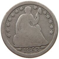 UNITED STATES HALF DIME 1853 SEATED LIBERTY T122 591