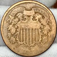 1864 2C TWO CENT PIECE ||| PROBLEM FREE, GREAT LOOKING COIN