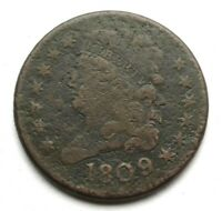 1809 CLASSIC HEAD HALF CENT    FIRST YEAR OF SERIES