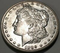 1889-O MORGAN SILVER DOLLAR VF  FINE ROLLING LUSTER  LOOKING COIN 90