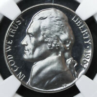 1967 JEFFERSON NICKEL 5C SMS SPECIAL MINT SET NGC MS66 CAMEO BRILLIANT UNC. GEM