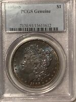 1886-S MORGAN DOLLAR PCGS  GENUINE JUST INCREDIBLE PRESERVE COIN FROM THE PAST.