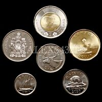 CANADA 2020 COMPLETE COIN SET 5 CENTS TO 2 DOLLARS UNCIRCULATED  6 COINS