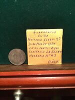 SPAIN COLONY SILVER COIN PROCLAMATION MEDAL GUANABACOA 1834 ISABEL JUST A BEAUTY