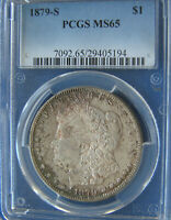 CRAPPY LOOKING 1879-S MORGAN DOLLAR - MINT STATE 65 PCGS