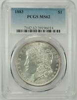 1883-P $1 MORGAN SILVER DOLLAR PCGS MINT STATE 62 39196014  EYE APPEAL GREAT BU COIN