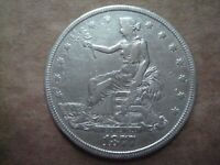 1877 US SILVER SEATED TRADE DOLLAR XF DETAILS AUTHENTIC COIN