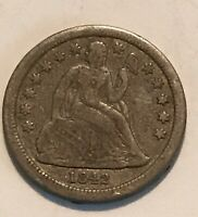 1842 SEATED LIBERTY DIME   EARLY DATE.