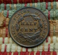 1829 CLASSIC HEAD HALF CENT, UNCIRCULATED DETAILS    RED BROWN BEAUTY