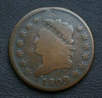KEY DATE 1809 CLASSIC HEAD LARGE CENT     KEY IN BETTER GRADE