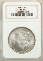1883-O THRU 1904-O MORGAN SILVER DOLLARS CERTIFIED MINT STATE 65 MUST LOOK SEE SO  WHITE