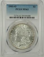 1901-O $1 MORGAN SILVER DOLLAR PCGS MINT STATE 61 39194488 - GREAT LOOKING BU COIN
