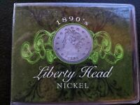 1890S COMMEMORATIVE PACK WITH A 1898 LIBERTY HEAD NICKEL.  COLLECTORS PACK