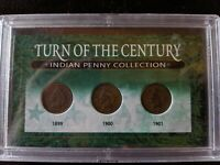 3 SLAB- 1899, 1900, 1901 INDIAN HEAD PENNY CERTIFIED CENTURY COLLECTION COIN SET