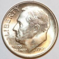 1950-S ROOSEVELT DIME   BU - 90 SILVER -     0047