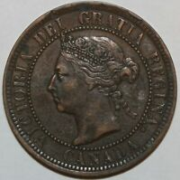1884 CANADA LARGE CENT LARGE 1 CENT PENNY     0114