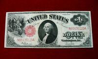 1917 $1 US NOTE LARGE SIZE LEGAL TENDER RED SEAL SPEELMAN/WHITE FR 39 CIRC F VF