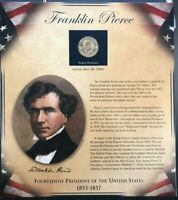 PCS UNITED STATES PRESIDENTS COIN COLLECTION - FRANKLIN PIERCE - COIN AND STAMPS