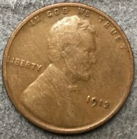 1913 P LINCOLN WHEAT CENT PENNY - BETTER GRADE  FREE SHIP. B973