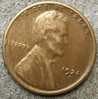1924 S LINCOLN WHEAT CENT PENNY - HIGHER/HIGH GRADE  FREE SHIP. A726