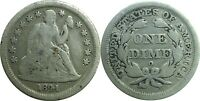 1841-O 10C SEATED LIBERTY DIME  GOOD DETAILS