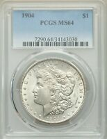 1904-P $1 MORGAN SILVER DOLLAR PCGS MINT STATE 64 34143030 - BETTER DATE / EYE APPEAL