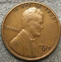 1935 S LINCOLN WHEAT CENT PENNY - HIGHER GRADE  FREE SHIP. B412