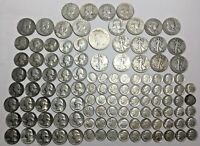 116 SILVER US COINS MIXED TYPE DATE YEAR 22.9 OUNCES / 650 G