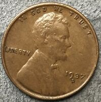 1937 D LINCOLN WHEAT CENT PENNY - HIGH GRADE  FREE SHIP. A595