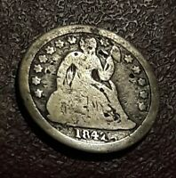 1842 P SEATED LIBERTY DIIME  EXACT COIN PICTURED FLAT RATE SHIPPING
