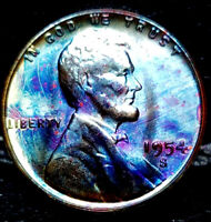 1954-S LINCOLN WHEAT CENT CENT-
