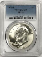 1976 S  SILVER EISENHOWER IKE DOLLAR PCGS MS 67