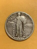 1924 S STANDING LIBERTY QUARTER   VF