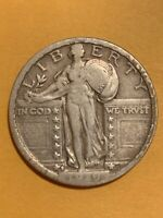 1919 S STANDING LIBERTY QUARTER   VF