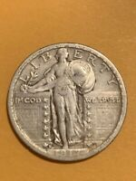1917 S TYPE 2 STANDING LIBERTY QUARTER   XF