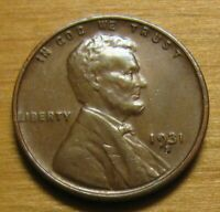 1931 S LINCOLN WHEAT CENT FROM PENNY COLLECTION