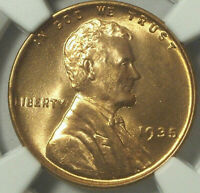 1935 LINCOLN PENNY GEM MINT STATE 66 RED NGC