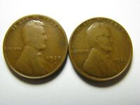 TWO 1927-D LINCOLN CENTS