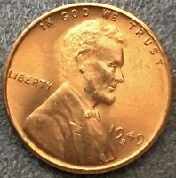 1949 S UNCIRCULATED BU RED RD - LINCOLN WHEAT CENT PENNY  FREE SHIP. B343