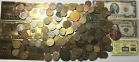 3  LB. LOT OF FASCINATING ESTATE US / WORLD COINS CURRENCY
