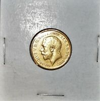 1913 BRITISH GOLD SOVEREIGN KING GEORGIVS