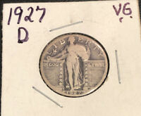 1927-D STANDING LIBERTY QUARTER  TONING