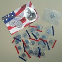 1990 1999 P D ROOSEVELT DIME 20 COIN SET UCINRCULATED   KEY DATE 1996 W   COA