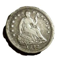 1842 P SEATED LIBERTY HALF DIIME  EXACT COIN PICTURED  FLAT RATE SHIPPING